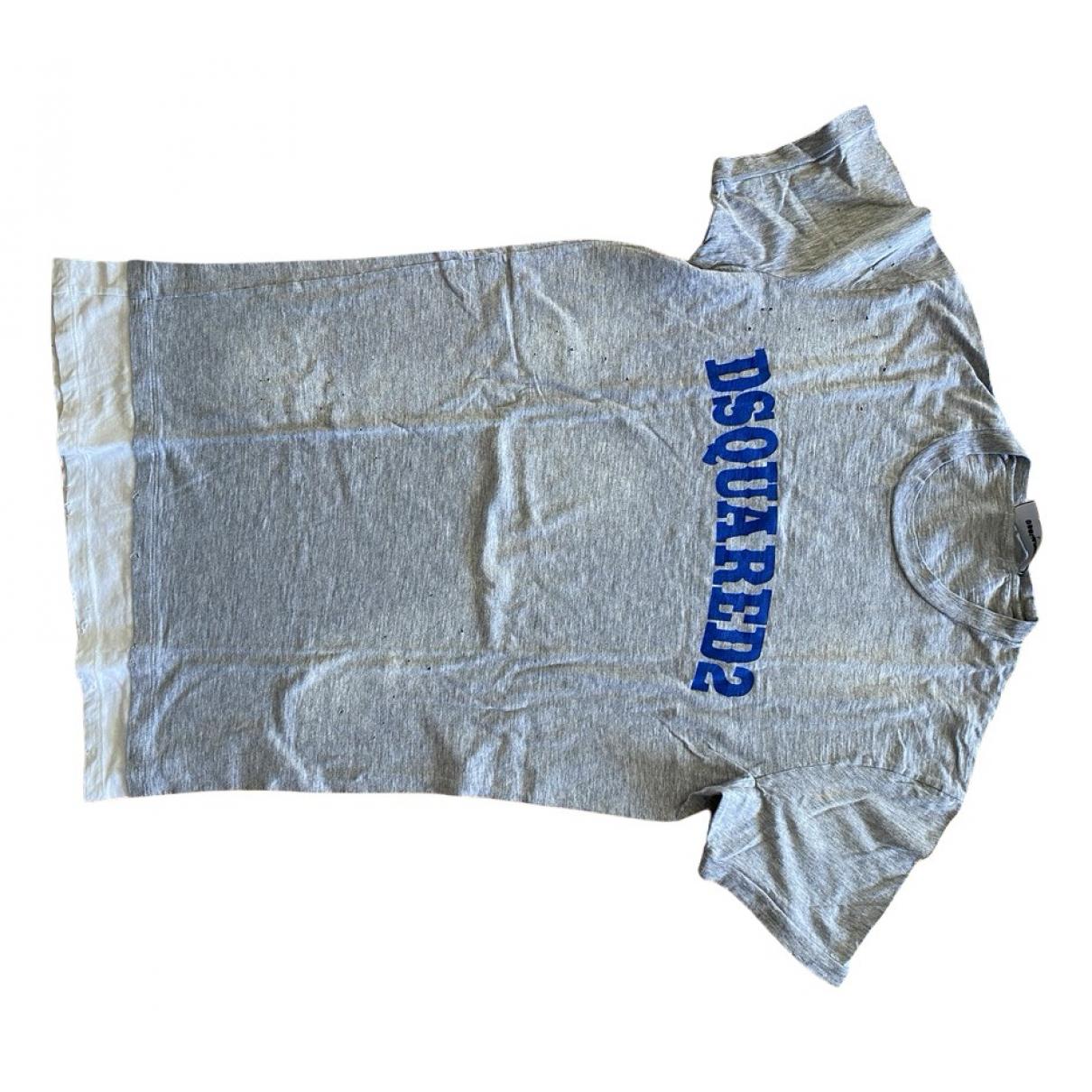 Dsquared2 N Grey Cotton T-shirts for Men L International
