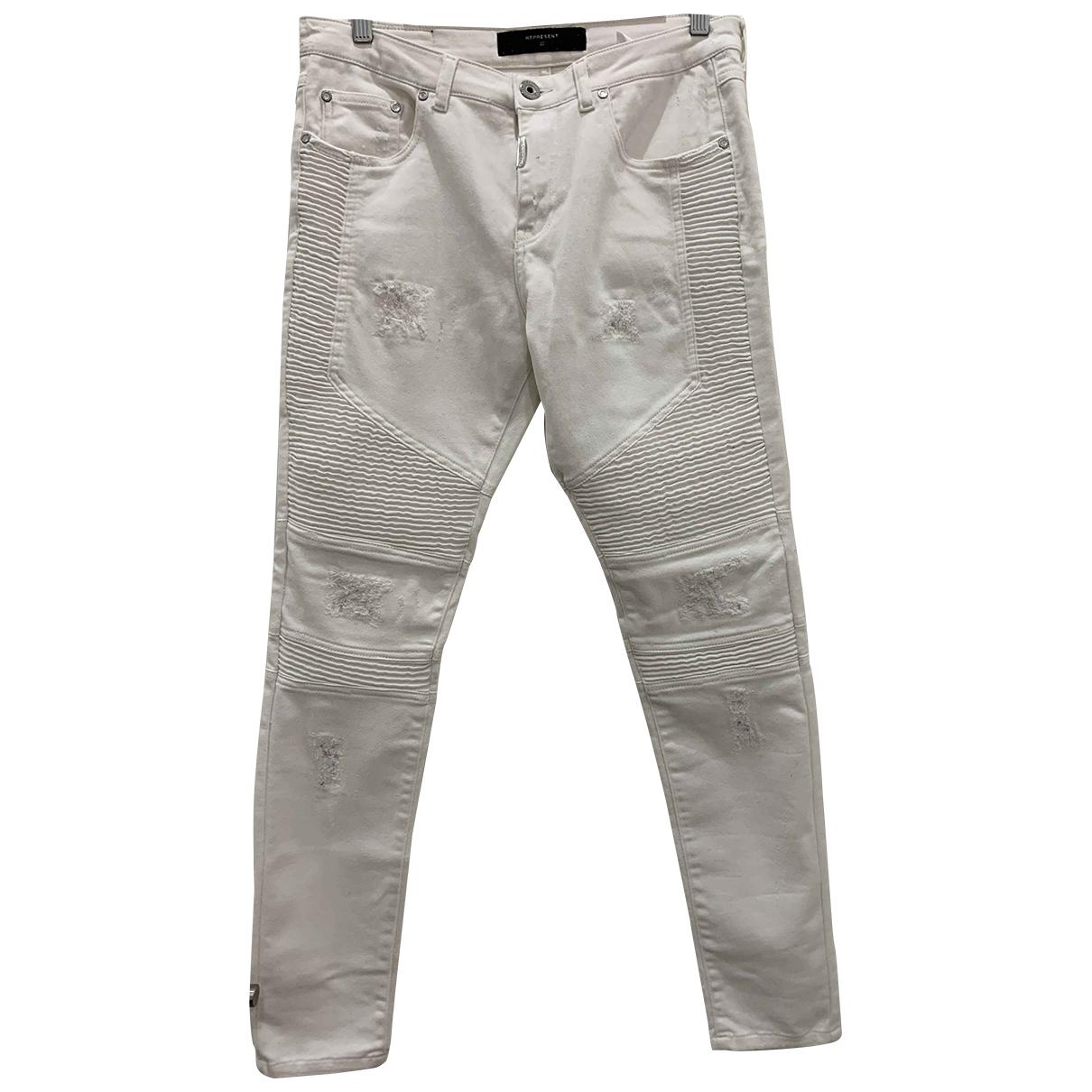 Represent N White Cotton - elasthane Jeans for Men 32 US