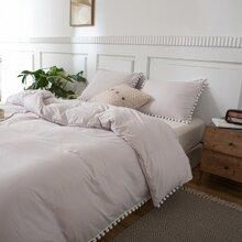 Pom Pom Decor Bedding Set Without Filler