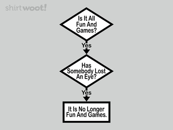 Flowchart Of Life: Fun & Games T Shirt