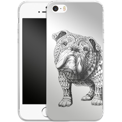 Apple iPhone SE Silikon Handyhuelle - English Bulldog von BIOWORKZ