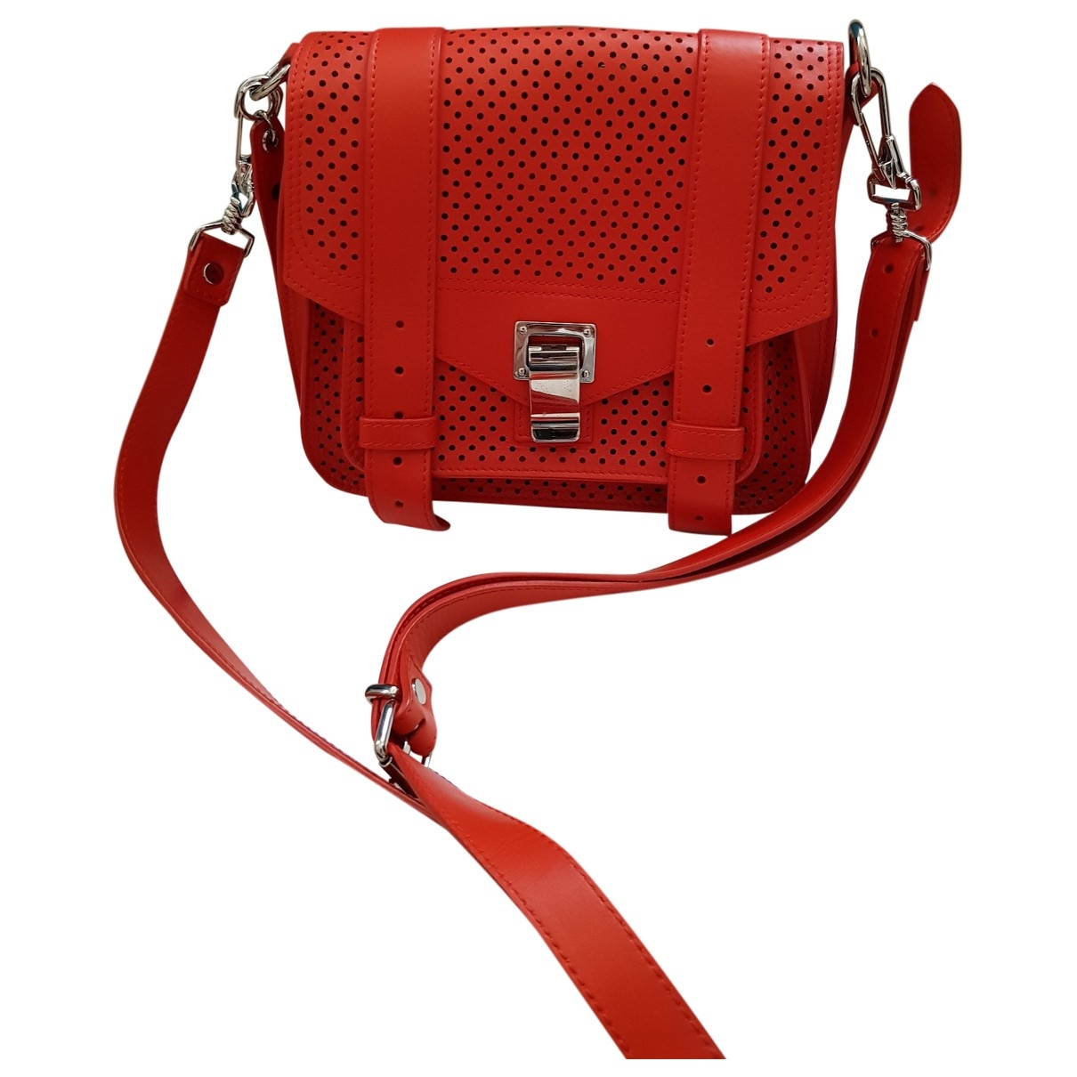 Proenza Schouler PS1 Handtasche in  Rot Leder