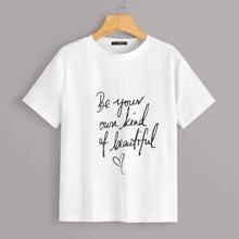 T-Shirt mit Buchstaben Muster