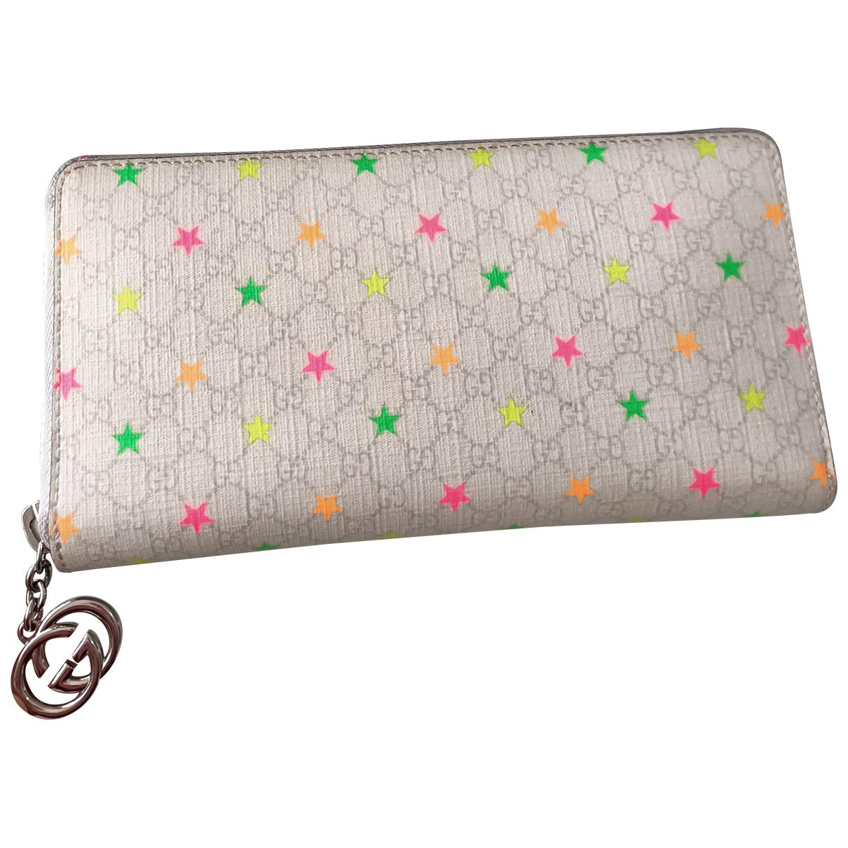 Gucci - Portefeuille Continental pour femme en toile - blanc