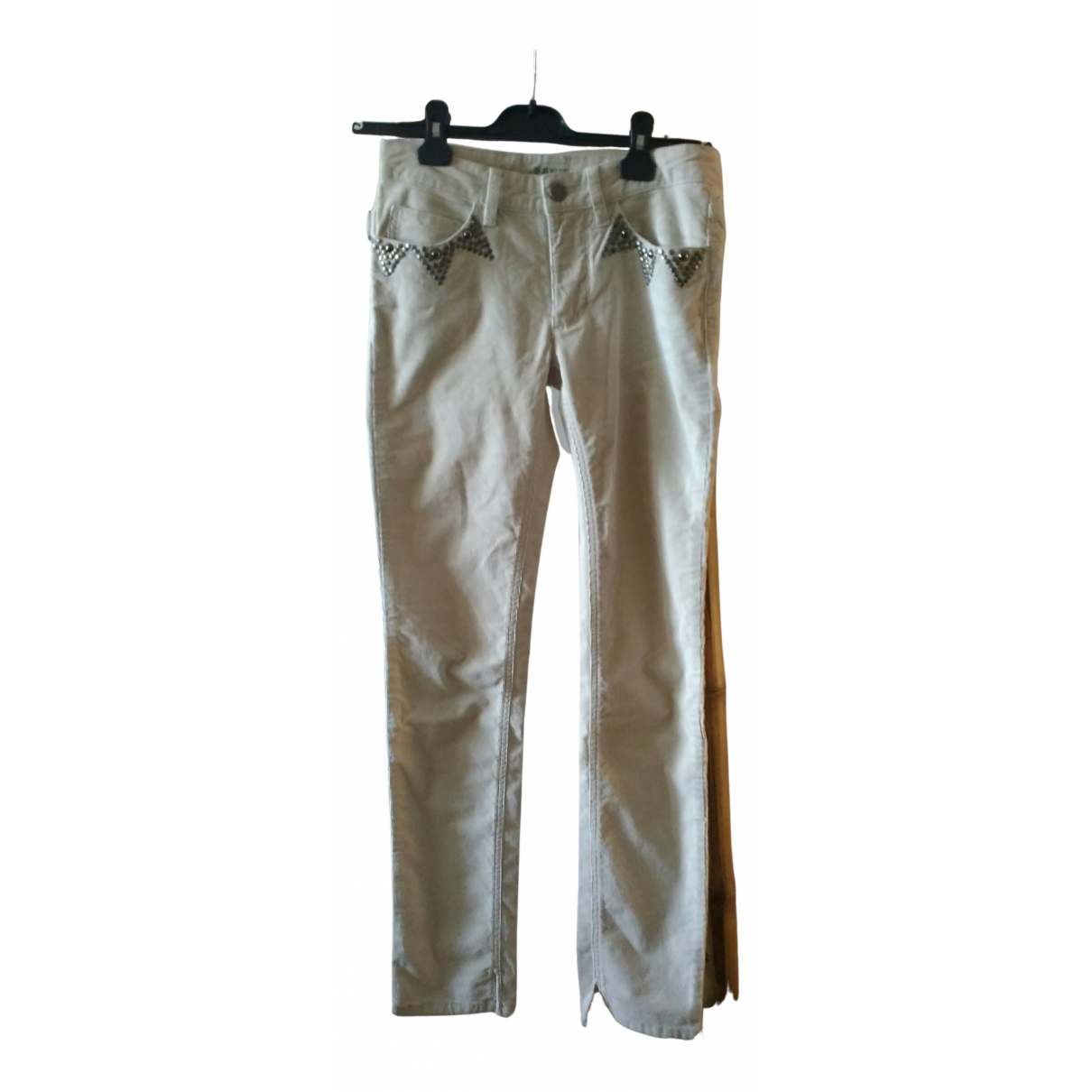 Zadig & Voltaire N Ecru Cotton Trousers for Women 34 FR