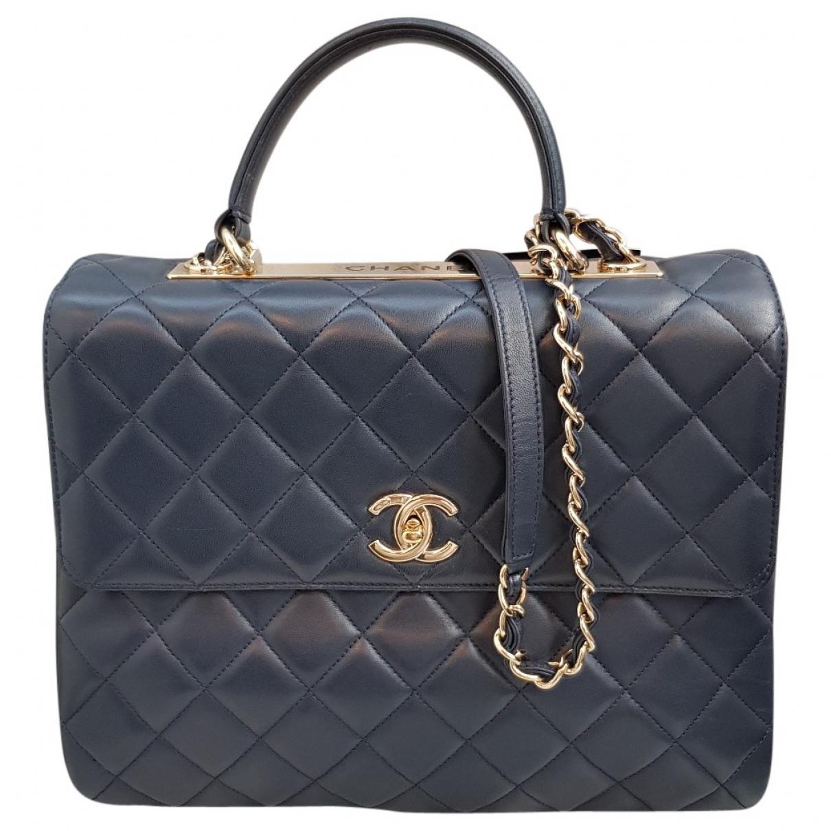 Chanel Trendy CC Handtasche in  Blau Leder