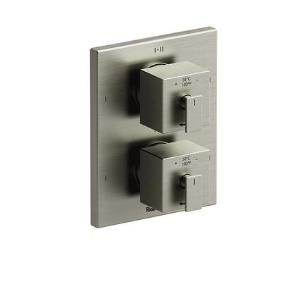 Zendo ZOTQ88BN 4-Way No Share Thermostatic/Pressure Balance Coaxial Complete Valve  in Brushed