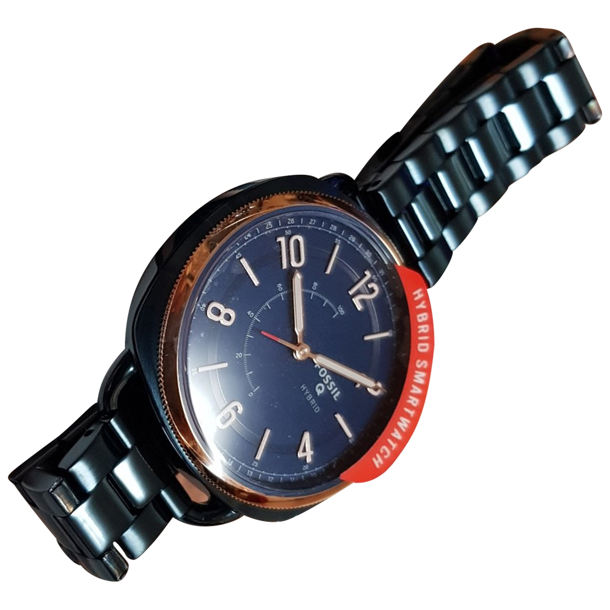Fossil \N Uhr in  Blau Stahl