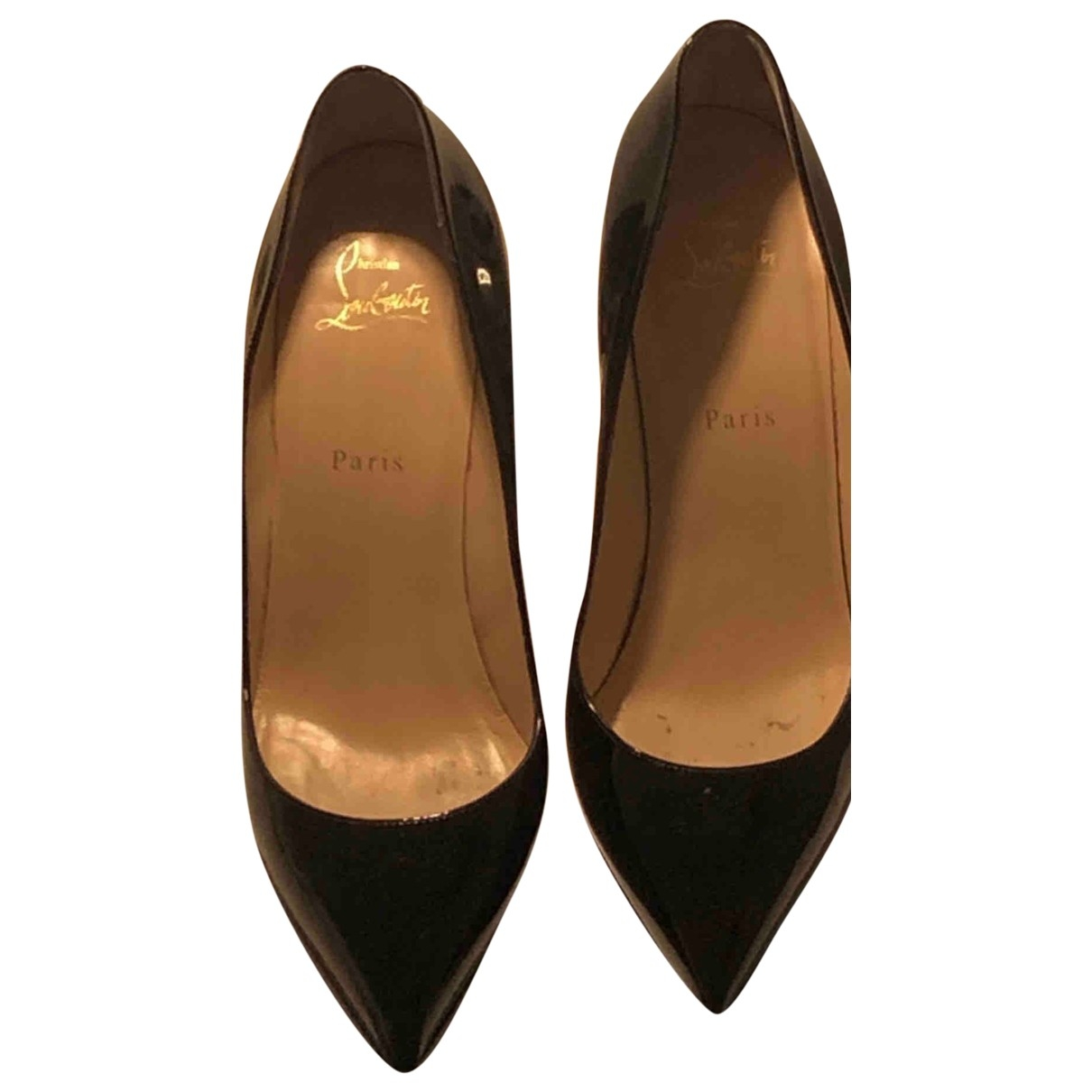 Christian Louboutin Pigalle Black Patent leather Heels for Women 40 EU