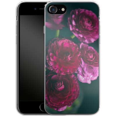 Apple iPhone 7 Silikon Handyhuelle - Purple Ranunculus 2 von Joy StClaire