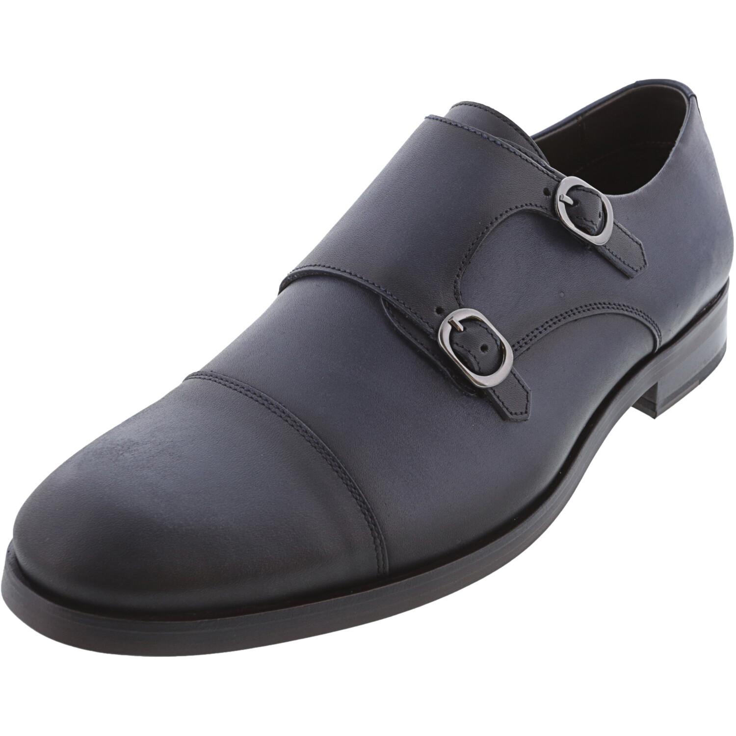 Marc Joseph New York Men's Grand Central Navy Burnished Low Top Leather Loafers & Slip-On - 8.5M