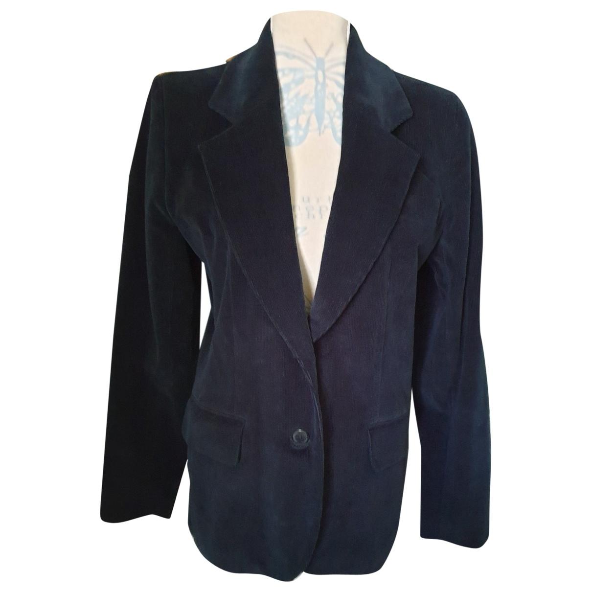 Inès De La Fressange Paris \N Black Cotton jacket for Women 42 FR