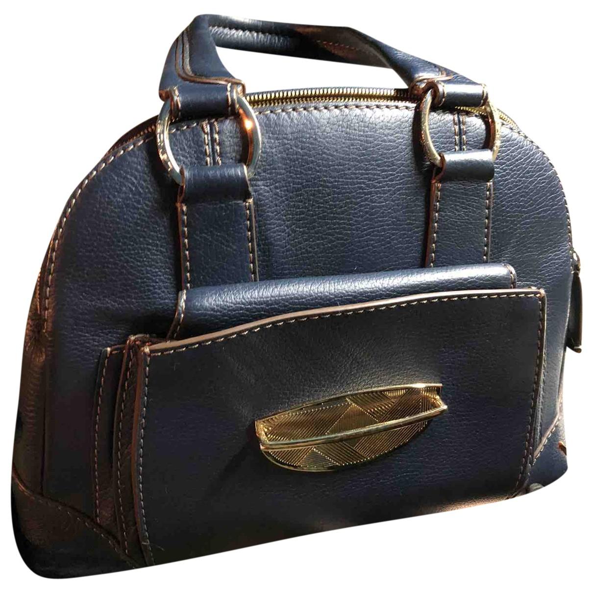 Lancel Adjani Handtasche in  Blau Leder