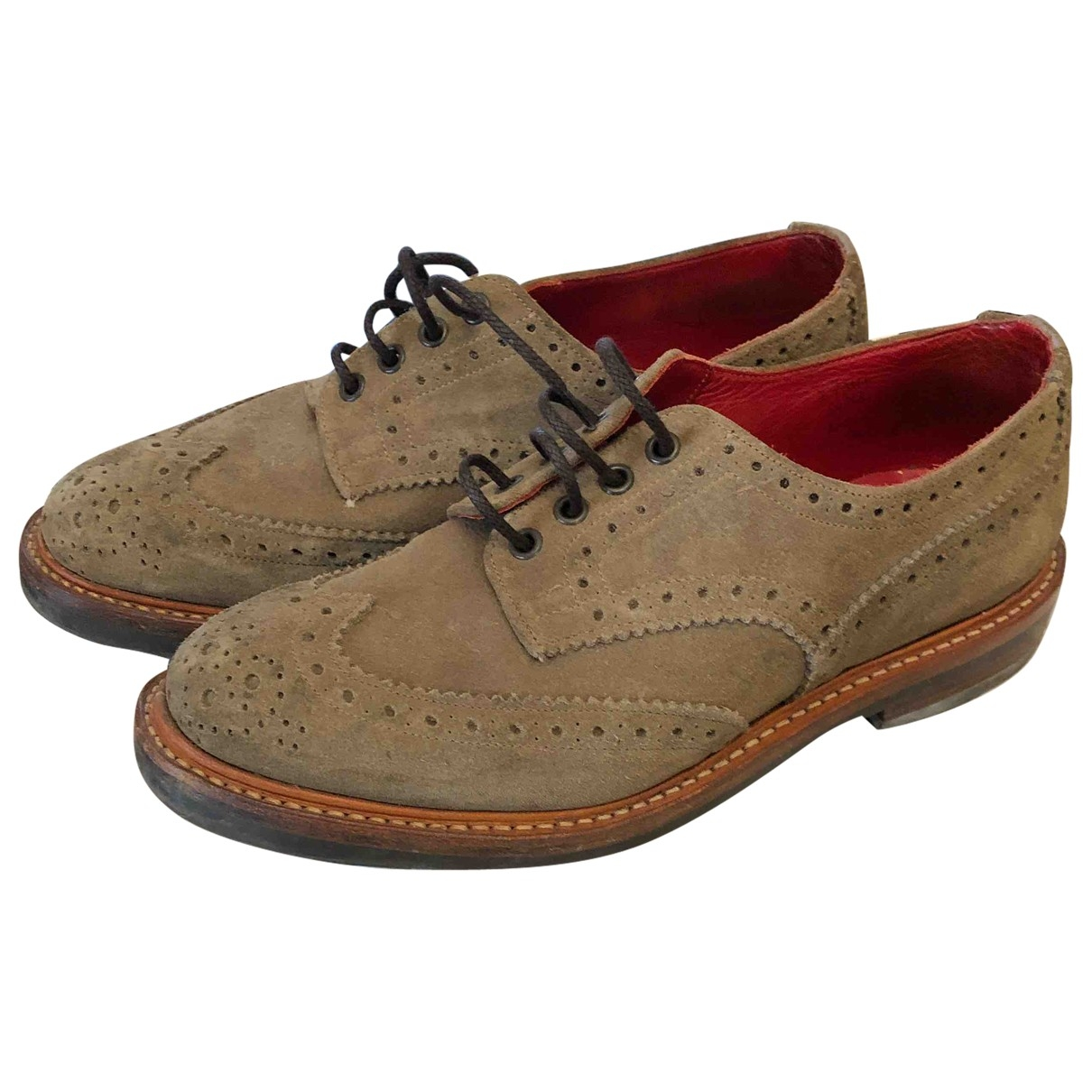 Trickers London - Derbies   pour homme en suede - gris