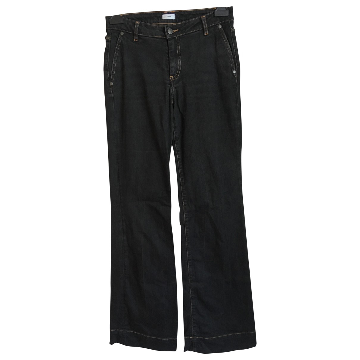 Zapa \N Black Cotton Jeans for Women 38 FR
