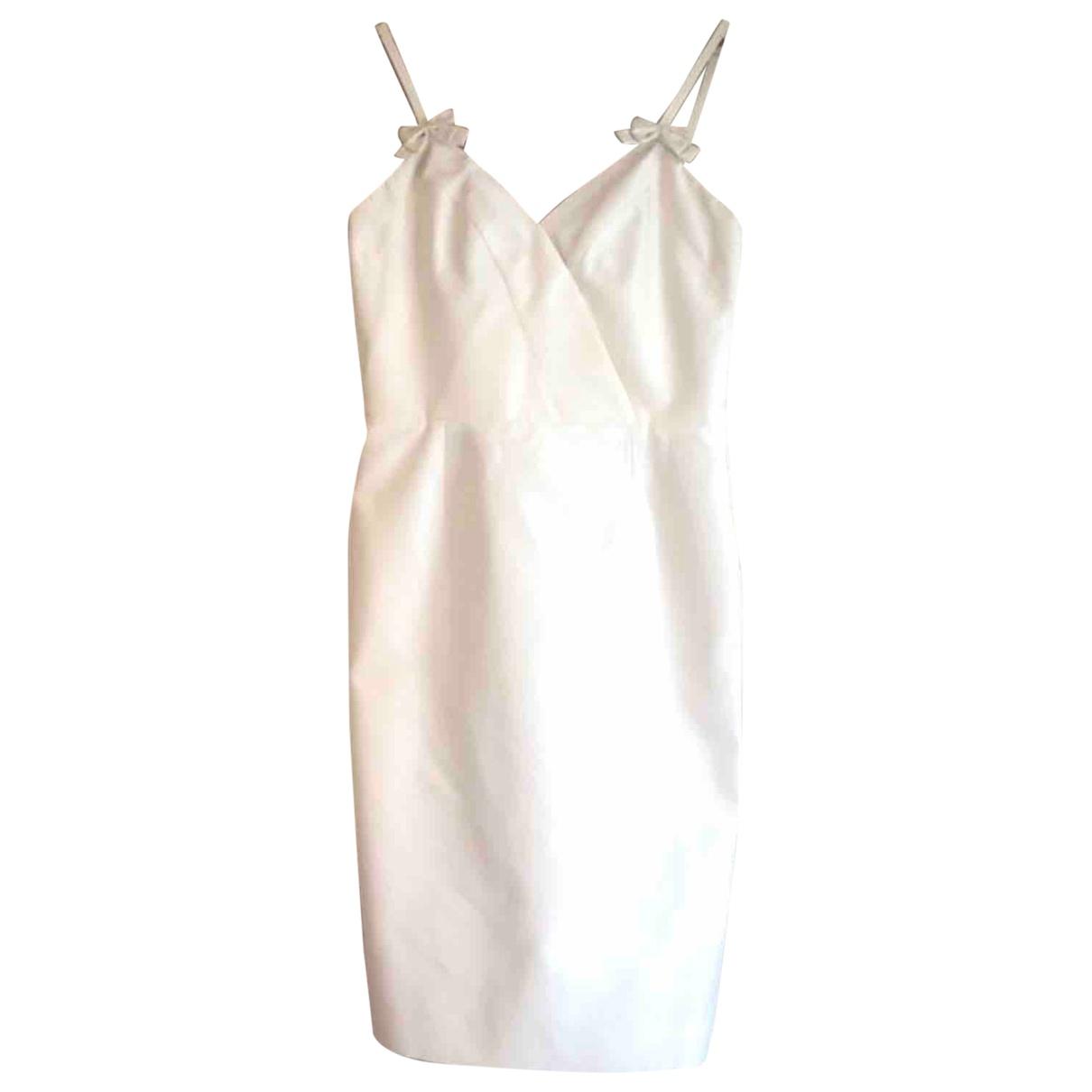 Dior \N Kleid in  Ecru Baumwolle