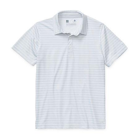 Xersion Little & Big Boys Short Sleeve Moisture Wicking Polo Shirt, 8 Husky , White