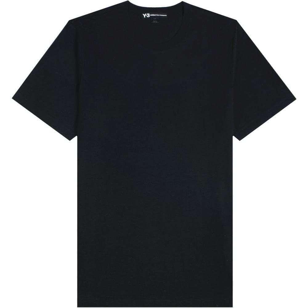 Y-3 Classic Reverse Logo T-Shirt Colour: BLACK, Size: MEDIUM