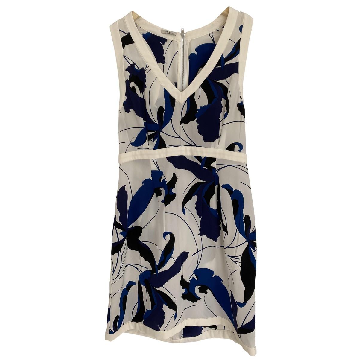Miu Miu \N Multicolour Silk dress for Women 40 IT
