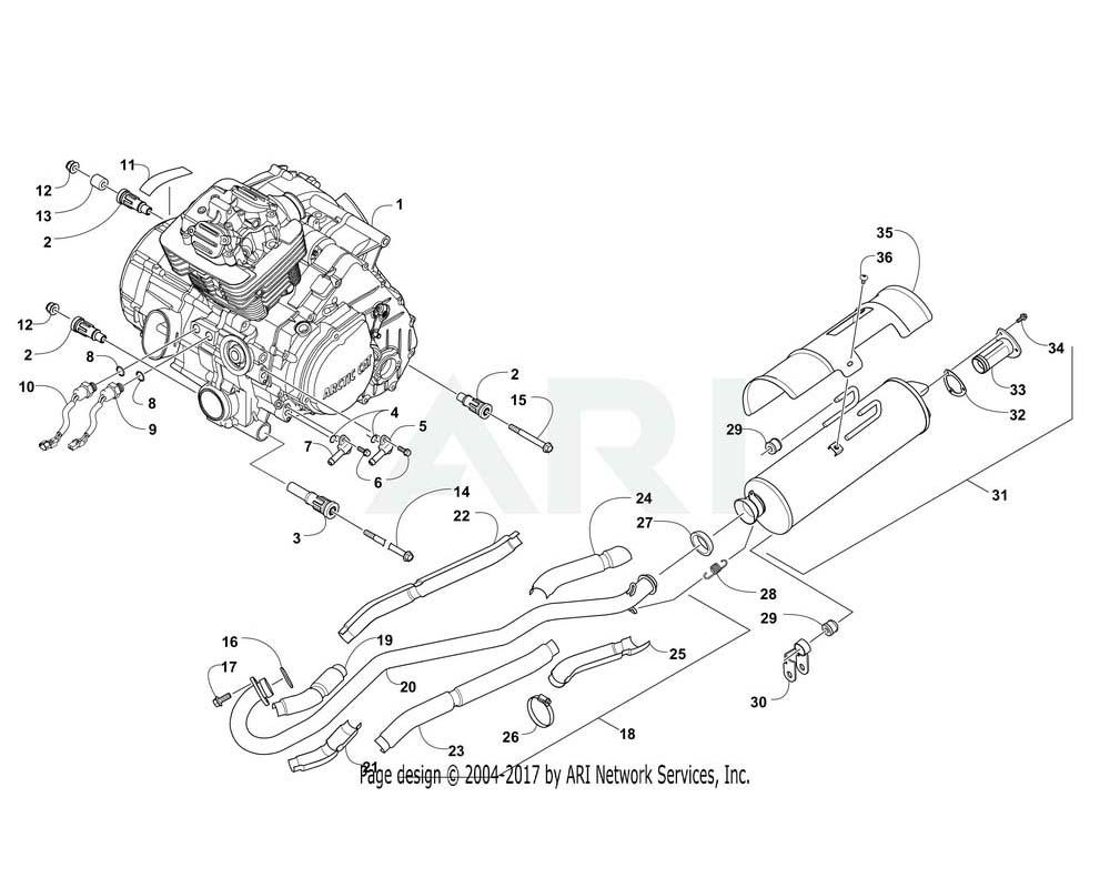 Arctic Cat OEM 3313-864 Engine Kd Pack Trv 400 | (Inc. 2 10)