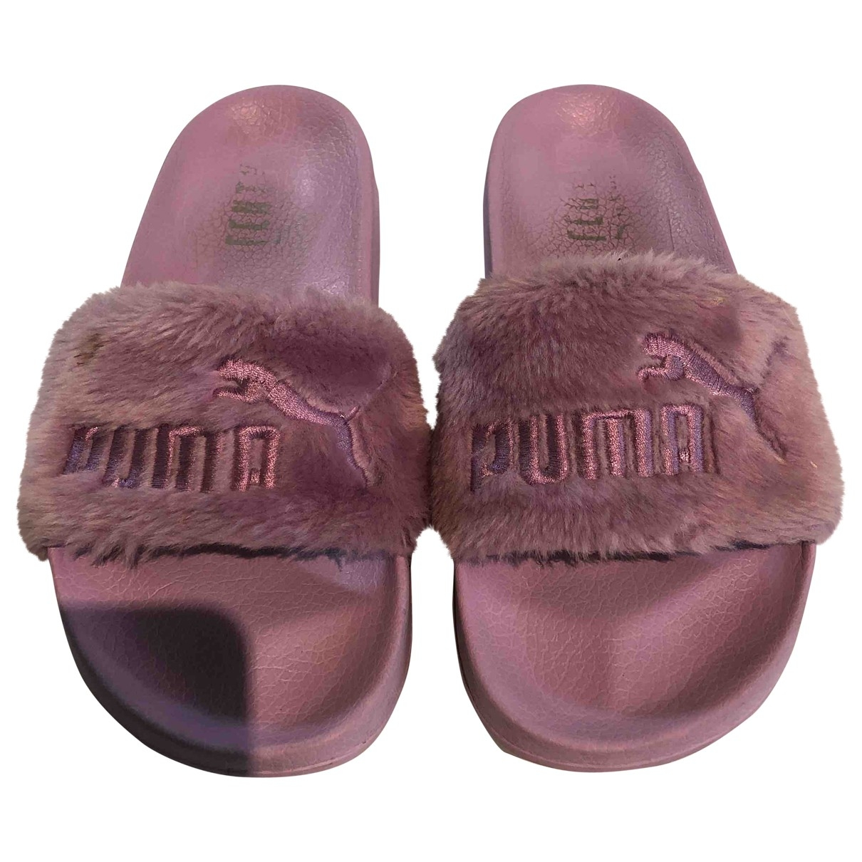 Fenty X Puma \N Purple Faux fur Sandals for Women 38 EU