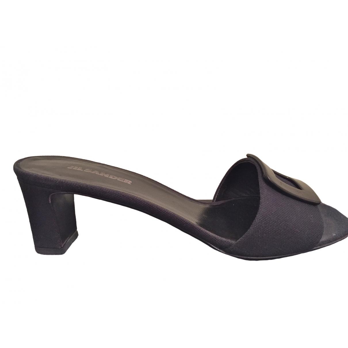 Jil Sander \N Black Cloth Sandals for Women 39 EU