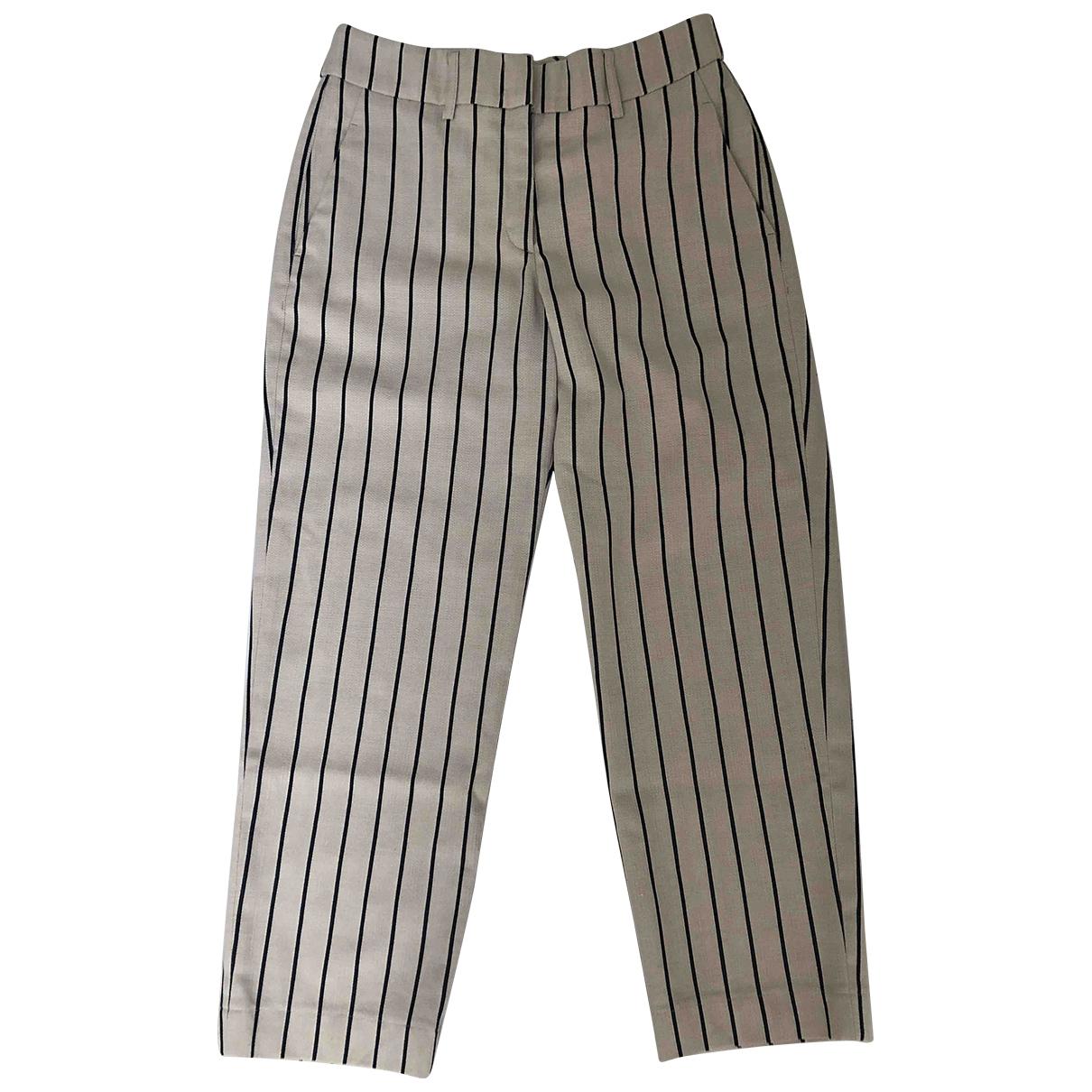 Peserico \N Beige Wool Trousers for Women 42 IT