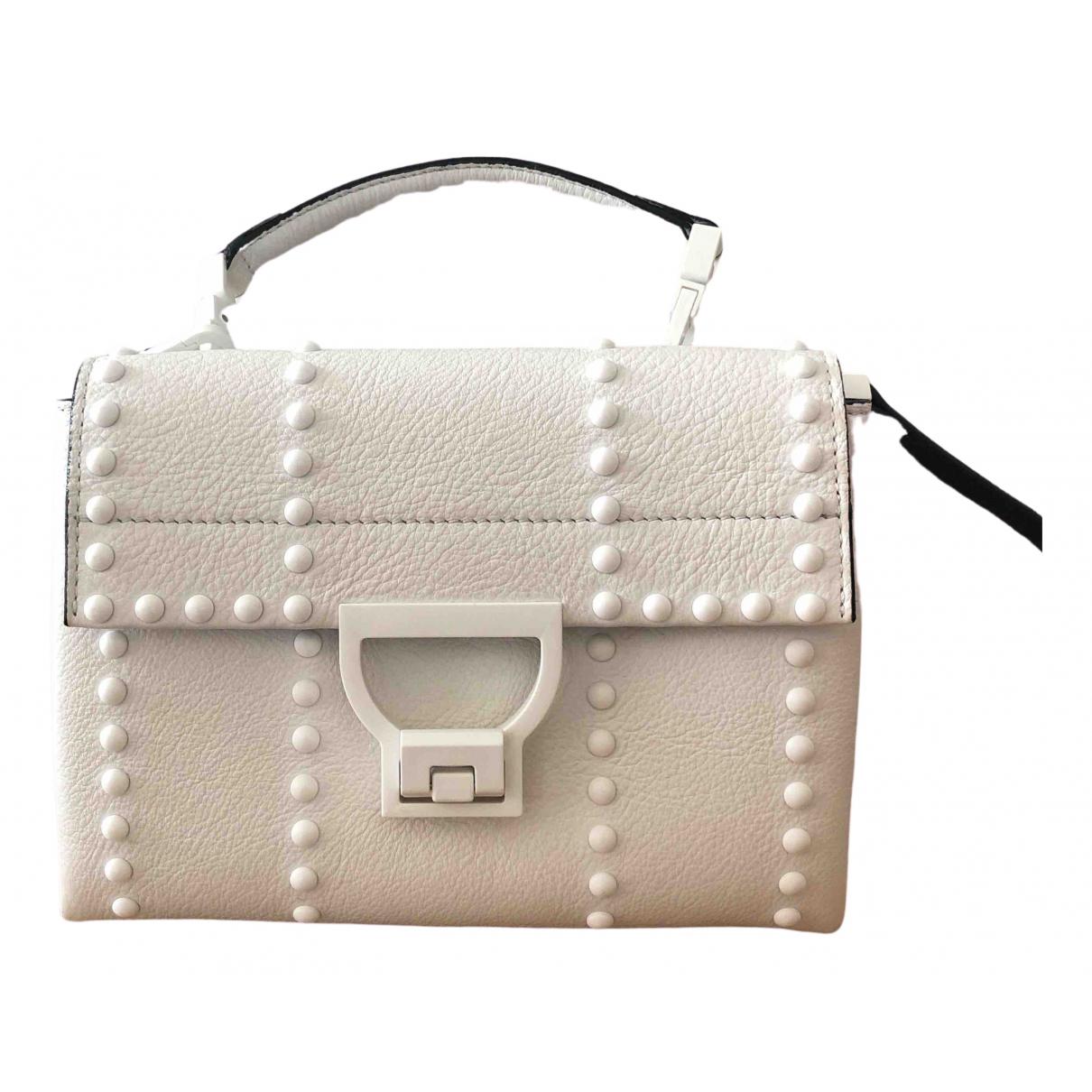 Coccinelle \N Handtasche in  Weiss Leder