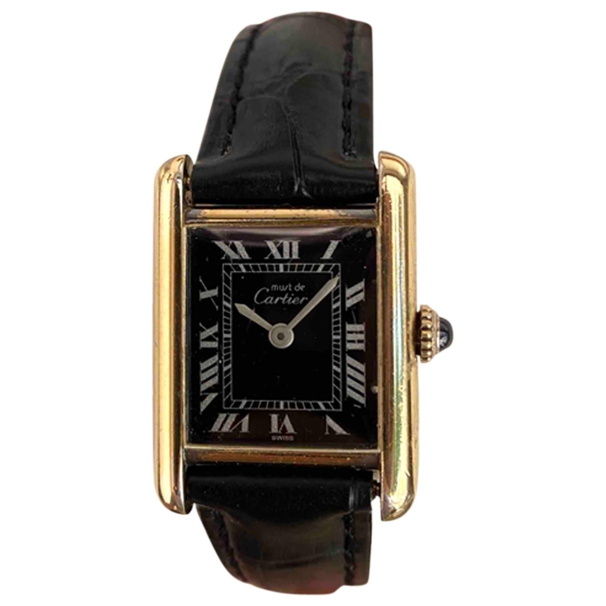 Cartier Tank Must Gold Silver Gilt watch for Women \N