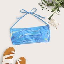 Bikini Top mit Batik und Neckholder