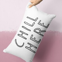 Slogan Graphic Lumbar Pillowcase