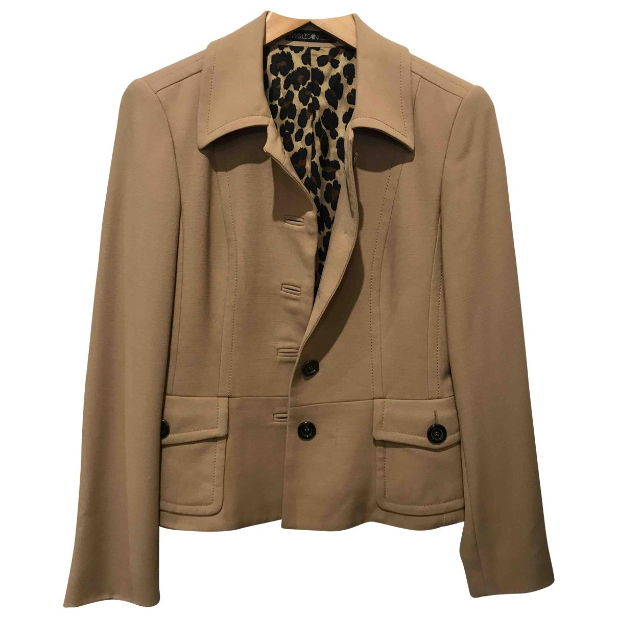 Marc Cain - Veste   pour femme en laine - beige