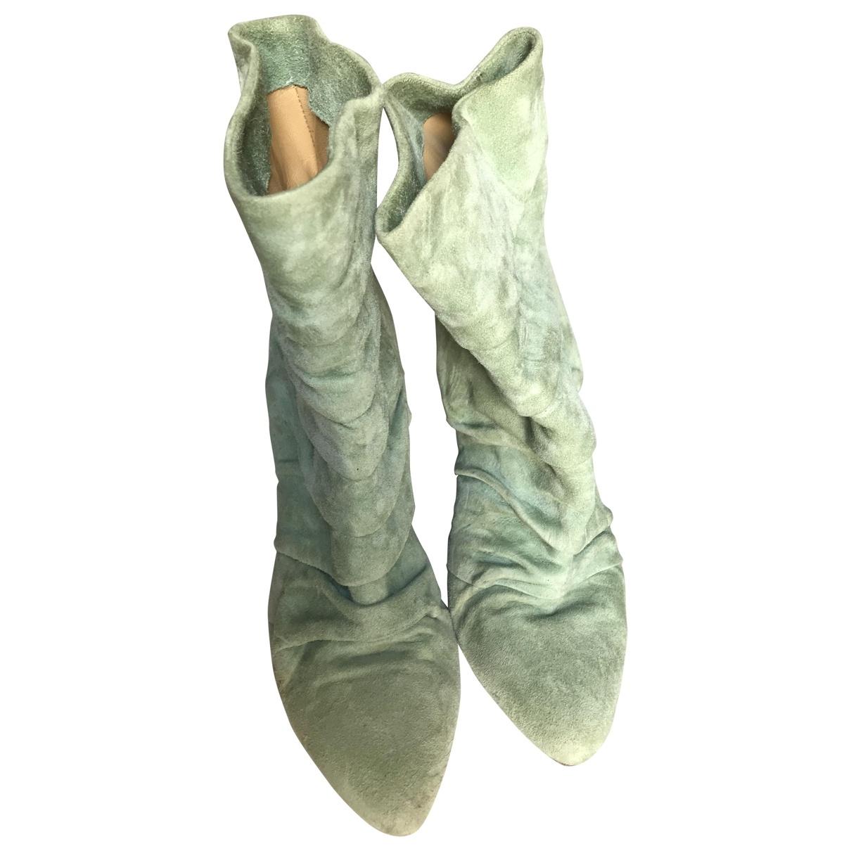 - Boots   pour femme en suede