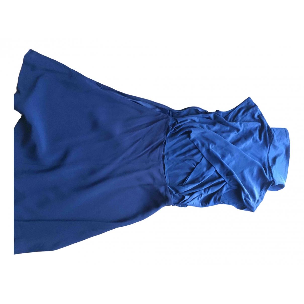 Sandro \N Kleid in  Blau Viskose