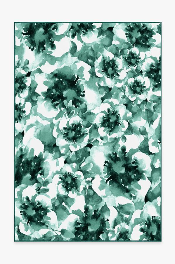 Washable Rug Cover   Buttercup Teal Rug   Stain-Resistant   Ruggable   6'x9'