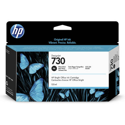 HP 730 P2V67A Original Photo Black Ink Cartridge 130ml