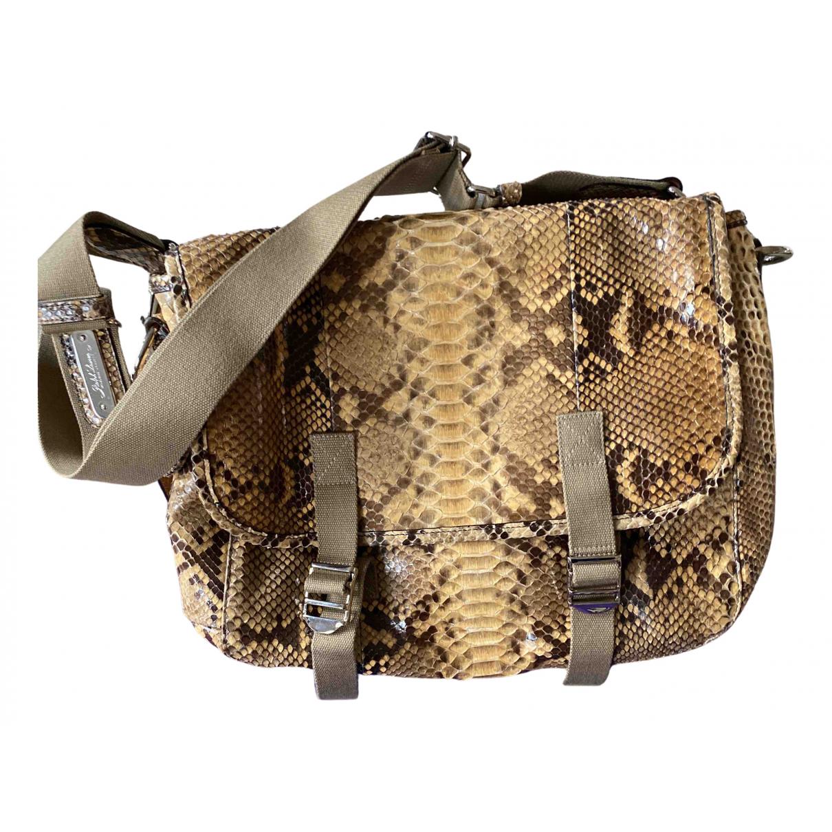 Ralph Lauren - Sac a main   pour femme en python - beige