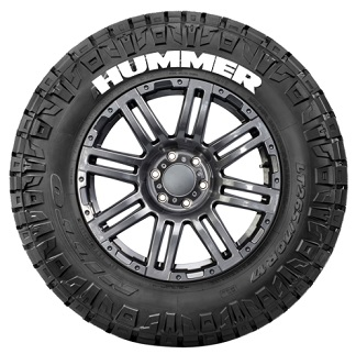Tire Stickers HUMMER-1921-1-4-B Permanent Raised Rubber Lettering 'HUMMER' Logo - 4 of each -  19