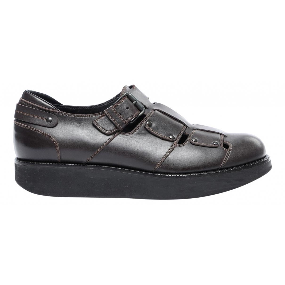Bottega Veneta \N Brown Leather Flats for Men 43 EU