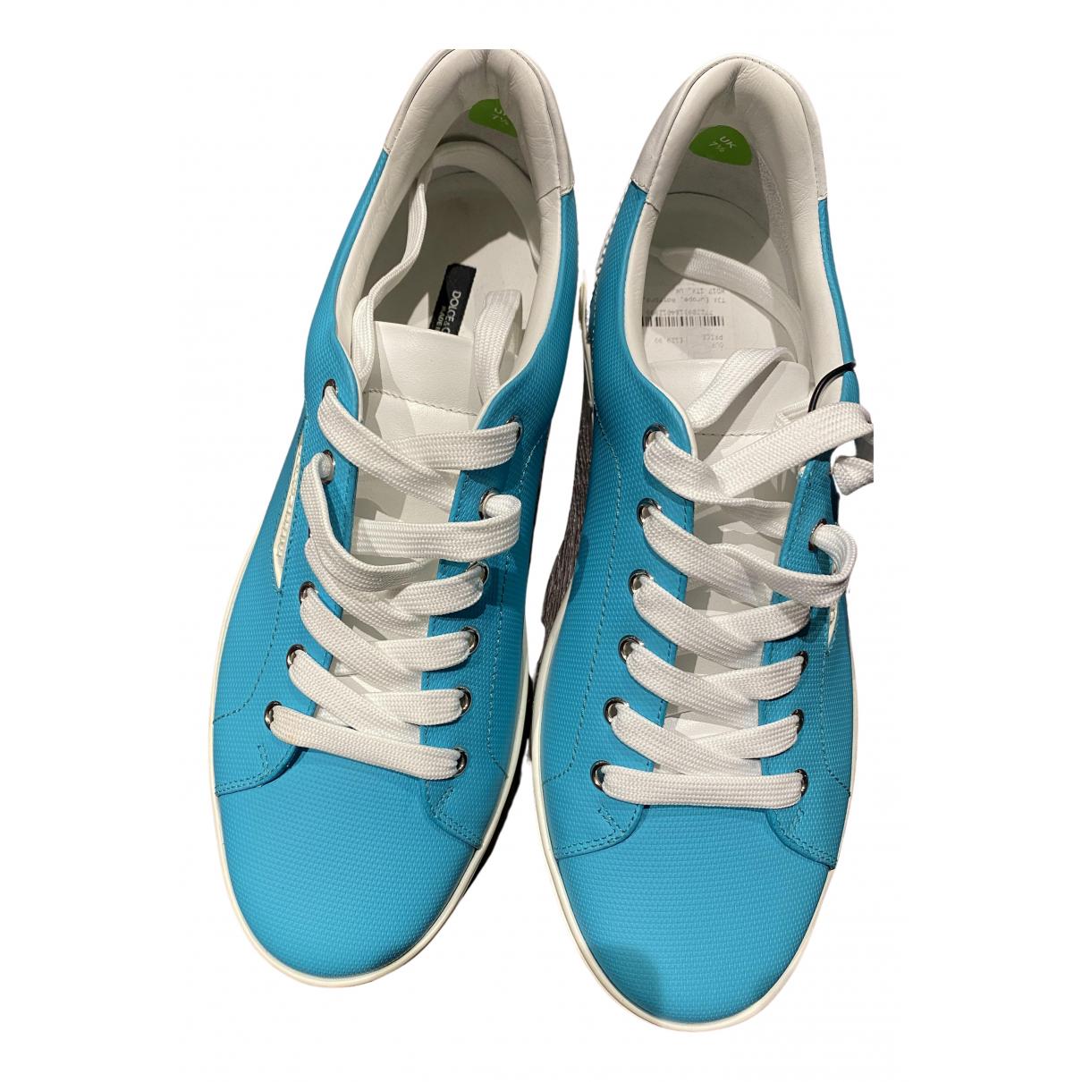Dolce & Gabbana \N Sneakers in  Tuerkis Leder