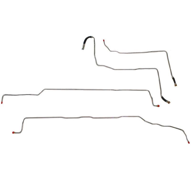 Fine Lines TGL0406SS Fuel Line Kit For 04-07 GM 1500 Extended Cab w/ V8 Fuel Line Kit Non Flex Fuel Trucks Stainless