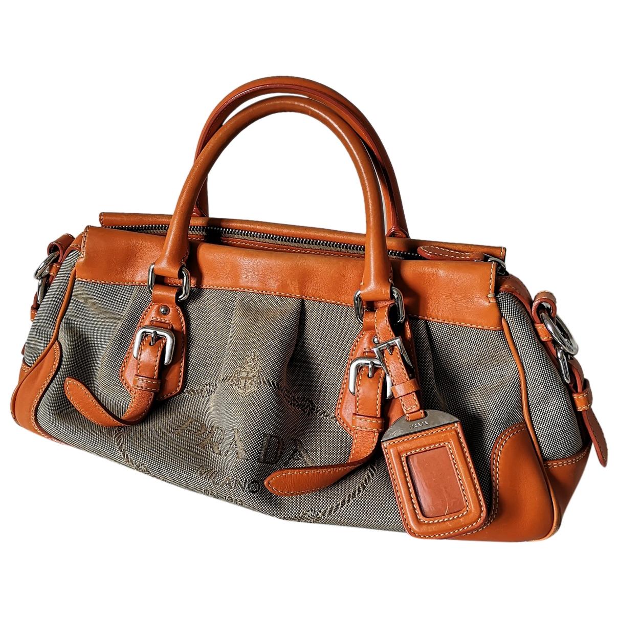 Prada \N Handtasche in  Ecru Leinen