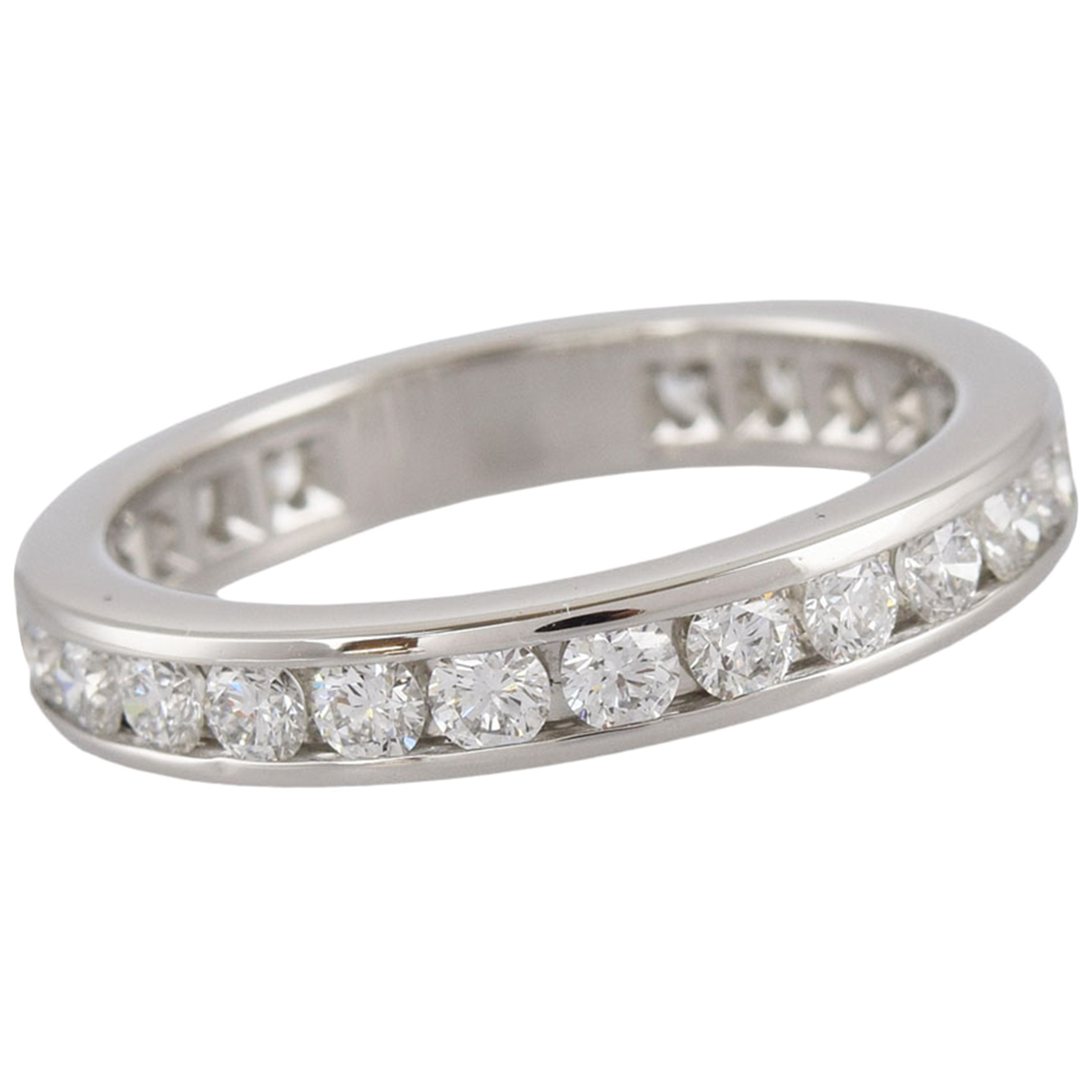 Tiffany & Co N Silver Platinum ring for Women 5 ¼ US