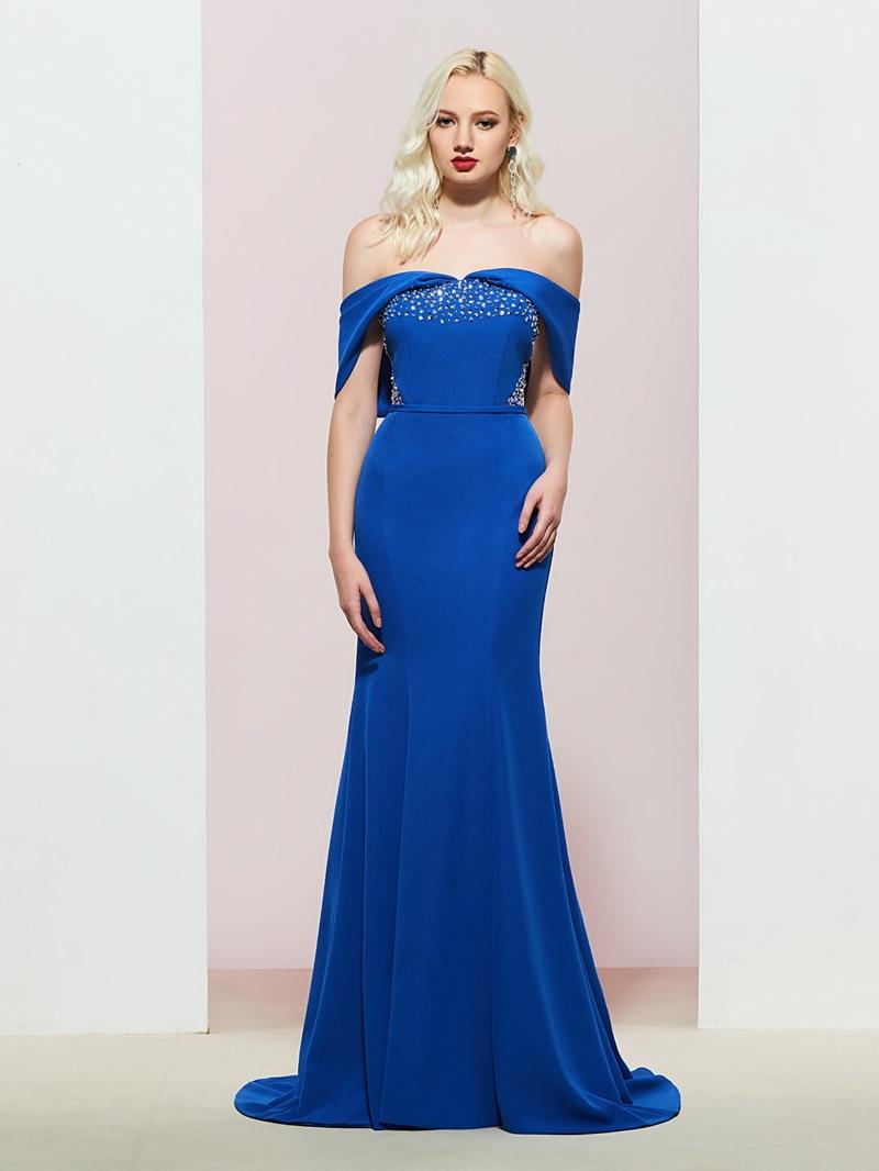 Ericdress Off-The-Shoulder Mermaid Floor-Length Evening Dress