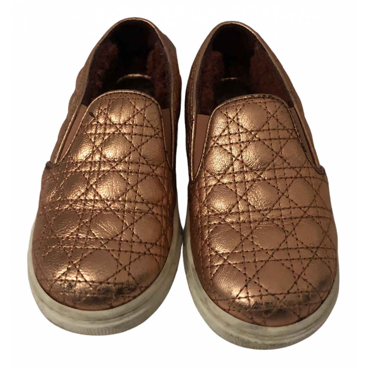 Baby Dior \N Sneakers in  Metallic Leder