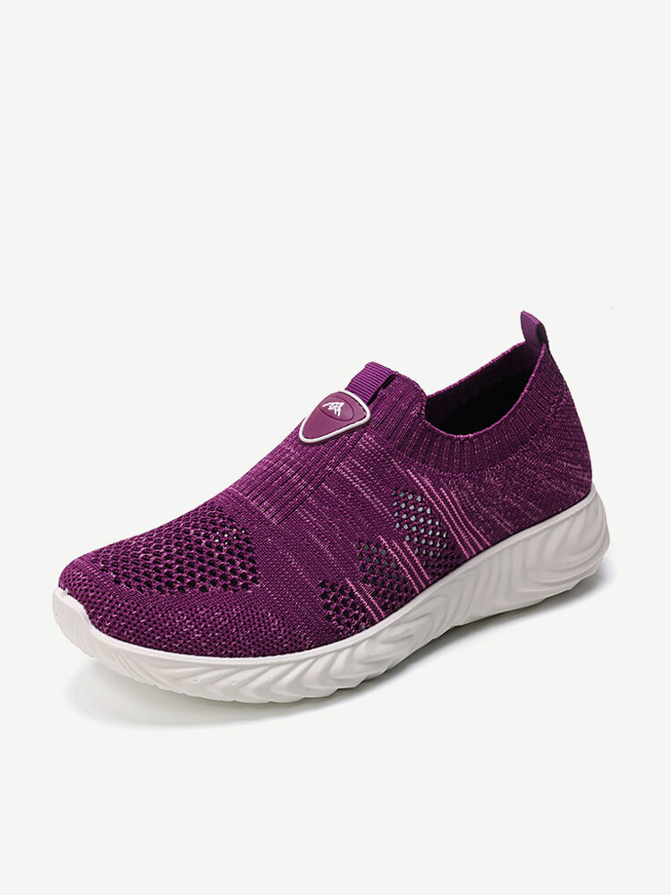 Women Casual Walking Soft Sole Mesh Slip On Sneakers