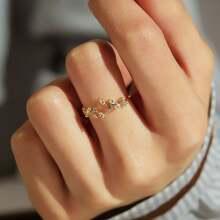 Manschetten Ring mit Strass Dekor 1pc
