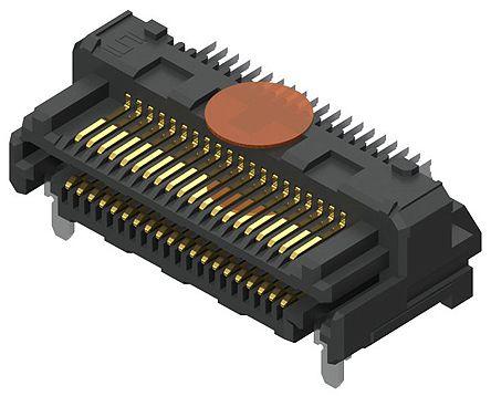 Samtec , LSHM Razor Beam, 80 Way, 2 Row, Right Angle PCB Header