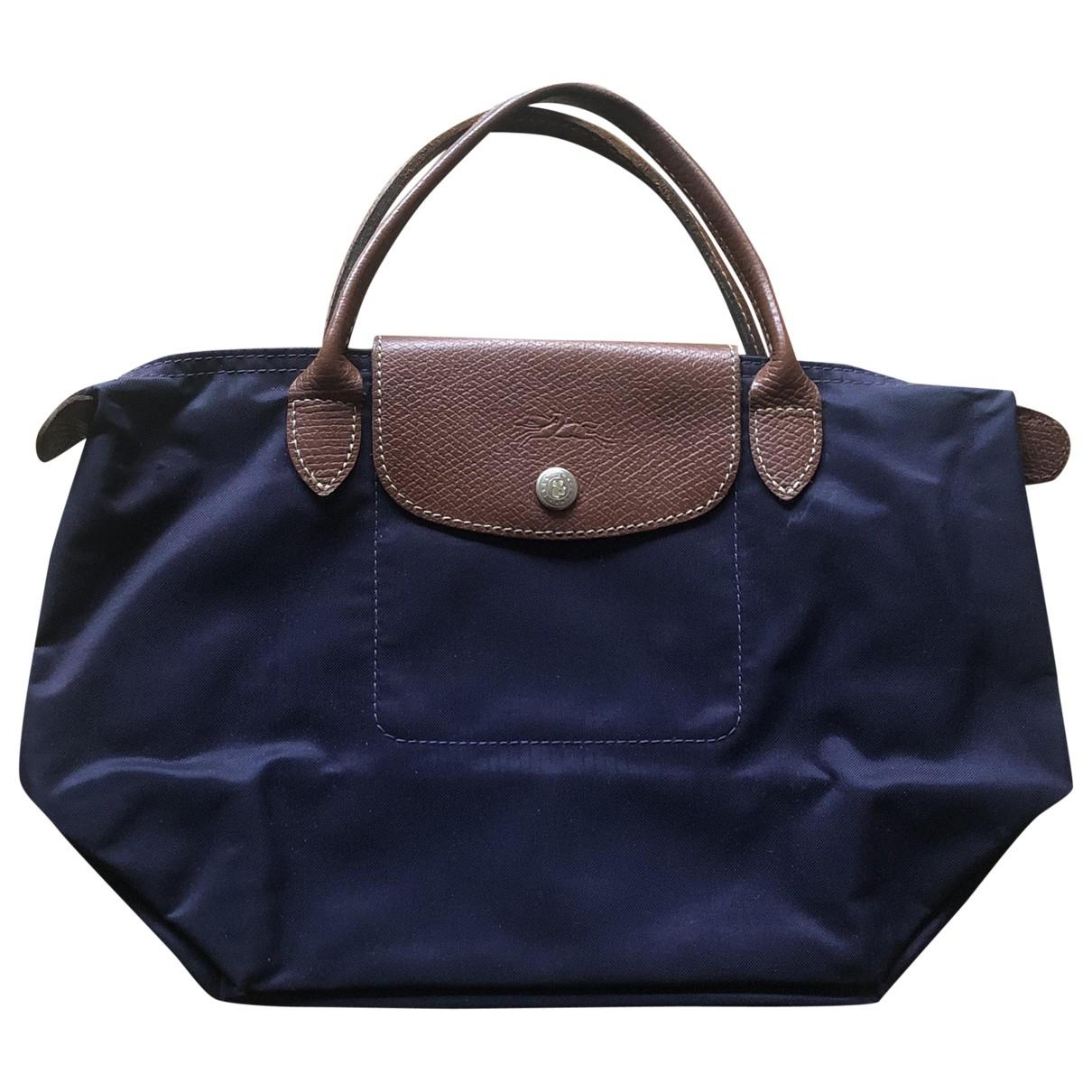 Longchamp Pliage  Handtasche in  Lila Leinen