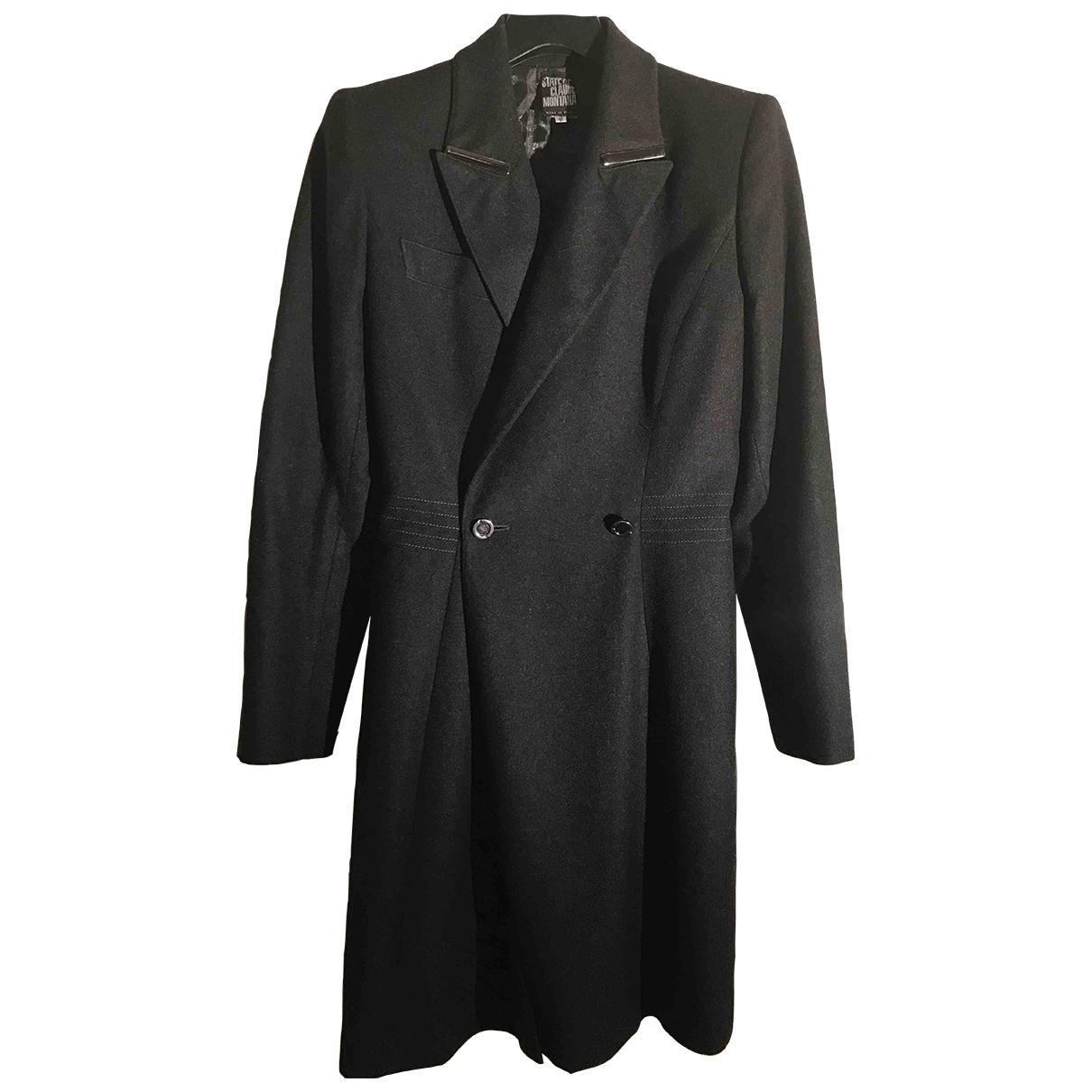 Claude Montana \N Black Cotton coat for Women 40 FR